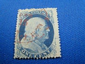UNITED STATES, 1857 SCOTT #24  -  USED Type V  (#4)