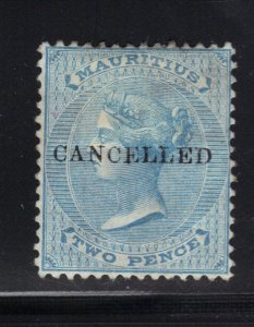 Mauritius Stamp #33 Cancelled Mint Unused Hinged - $70 cv