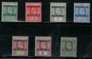 Gilbert and Ellice 1911 SC 1-7 Mint Set