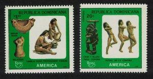 Dominican Rep. America Pre-Columbian Culture 2v 1989 MNH SG#1752-1753