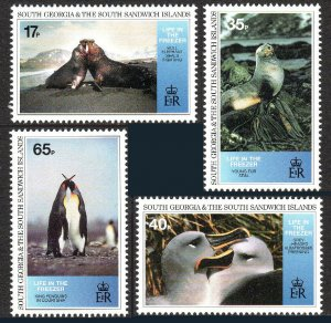 South Georgia 190-193,MNH. Native Wildlife.Seals,Albatrosses,King penguins, 1994