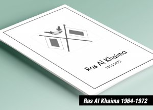 PRINTED RAS AL KHAIMA 1964-1972 STAMP ALBUM PAGES (152 pages)