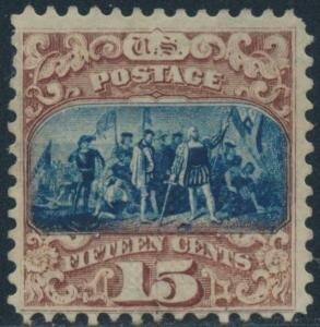 #119 F-VF UNUSED WITH THIN SPOT CV $1,150 BR6467
