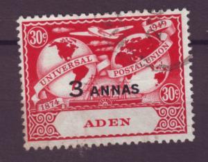J20858 Jlstamps 1949 aden used #33 upu