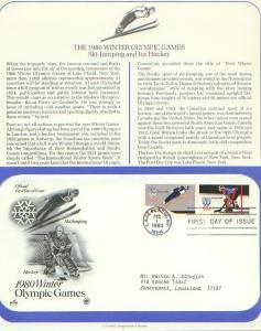 Olympic Games 80, FDC's (USHFDC1797-8)