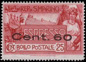 San Marino Scott E3 (1923) Mint H VF