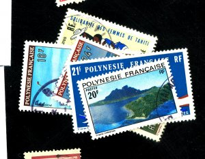 FRENCH POLYNESIA #274-77 283 USED FVF Cat $20