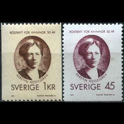 SWEDEN 1971 - Scott# 884-5 Women Suffrage 1k-45o LH