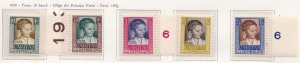 1930 Luxembourg, Luxembourg, N° 226/230 'Caritas Pro Builders' 5 Val. MNH