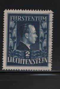LIECHTENSTEIN 259A Used. 1951 Types of 1944 Redrawn