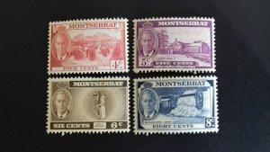 Montserrat 1951 Local Motifs & King George VI   Mint