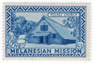 (I.B) Cinderella Collection : The Melanesian Mission (Village Church)