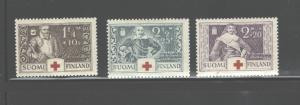 FINLAND 1934 RED CROSS #B15 - 17, MNH