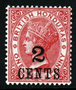 BRITISH HONDURAS Queen Victoria 1888 2c. on 1d. Carmine Wmk Crown CA SG 37 MNH