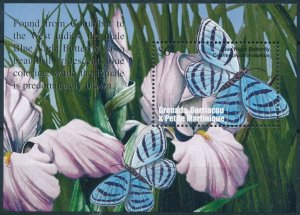 [108926] Carriacou & Petite Martinique 2002 Insects butterflies Sheet MNH