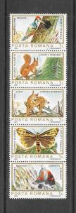 BIRDS - ROMANIA #3154 (row 3)  MNH