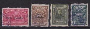 Costa Rica Scott RA1A/D Rentas postales Complete Set USED CV$525
