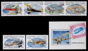 Cambodia 1527-33 MNH Aircraft, Stamp on Stamp