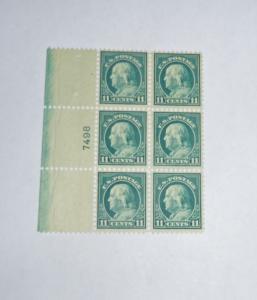 #511 11 cent Franklin plate block