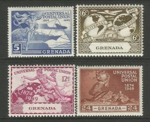 Grenada 1949 UPU 75th Anniversary Commemorative Set Mounted Mint