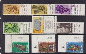ISRAEL  ^^^^^# 145//186    MNH SETS   With tabs     @  dca879iseb