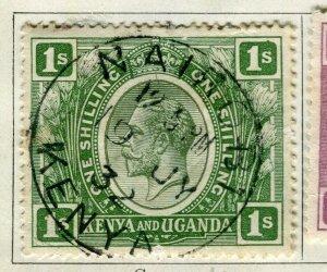 BRITISH KUT; ; Kenya Uganda 1922 early GV issue fine used 1s. value Postmark