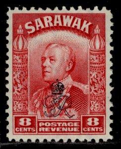 SARAWAK GVI SG155, 8c carmine, M MINT.