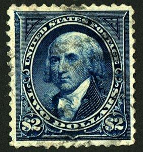 U.S. #277A USED DARK BLUE
