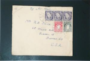 Ireland 1947 Airmail Cover to USA , 18p Value - Z3330