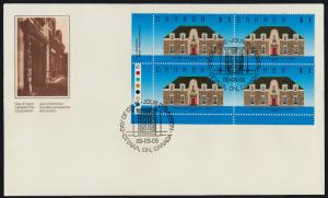 Canada 1181 BL Plate Block on FDC - Runnymede Library