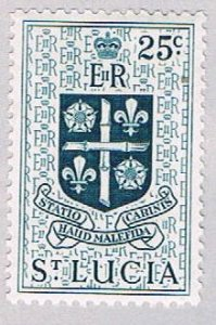 St Lucia 166 MLH Arms 1953 (BP53517)