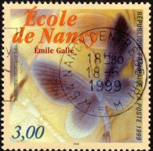 France 2725 - Used - 3fr Butterfly / Art (1999) (cv $0.85)