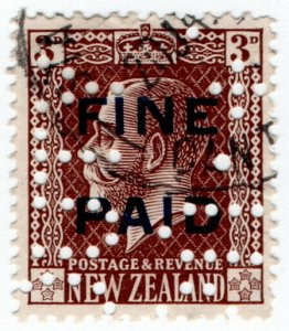 (I.B) New Zealand Revenue : Fine Paid 3d