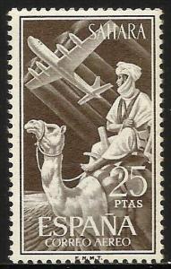 Spanish Sahara Air Mail 1961 Scott# C19 MNH