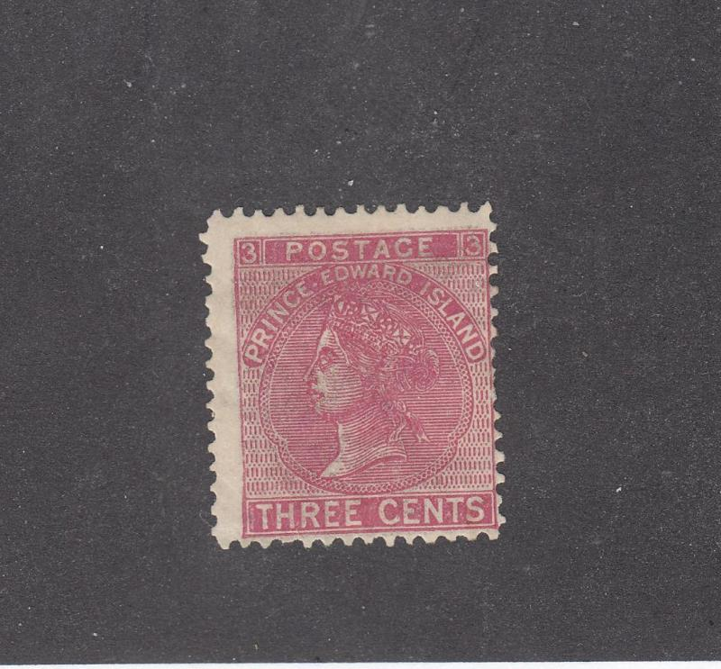PRINCE EDWARD ISLAND # 13 MH 3cts  QUEEN VICTORIA ROSE CAT VALUE $16
