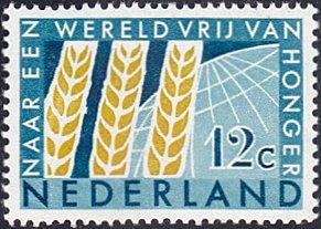 Netherlands # 413 mnh ~ 12¢ Wheat and Globe