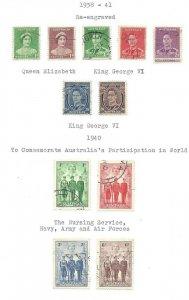 Australia #180 thru 187 + A VF