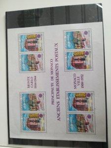 Monaco 1990 Scott #1717a, VF MNH Europa Mini Sheet