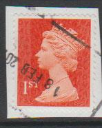 GB QE II Machin SG U2958a - 1st vermillion  - date code M14L - Source  none