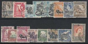 KUT, Sc 103-117 (SG 167-180), used