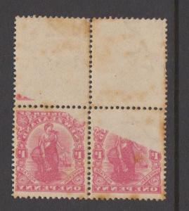 New Zealand Sc#131 MNH Block of 4 - Dramatic Offset on Back - toned