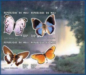 Mali 1996 Butterflies Shlt (4) MNH Imperf. Sc # 811
