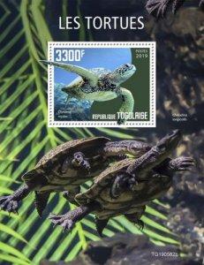 TOGO - 2019 - Turtles - Perf Souv Sheet - M N H