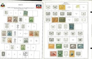 Haiti 1881-1959 M, U & CTO Hinged & in Mounts on Mostly Scott Int. Pages.