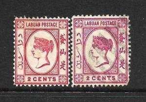 LABUAN  1892-93  2c    QV    M&U    SG 39