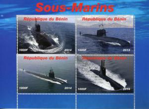 Benin MNH S/S Submarines 2014