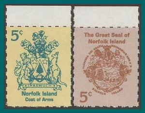 Norfolk Island 1997 Booklet, Arms, MNH  614-615,SG632-SG633