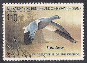 RW 55 $10.00 Snow Goose  mint OG NH EGRADED XF-SUPERB 97 XXF
