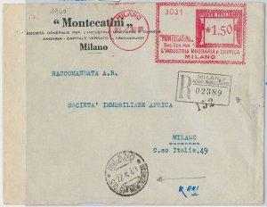 53276 - REGNO -  BUSTA con AFFRANCATURA MECCANICA: MONTECATINI 1940