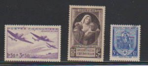 FRANCE # B103,B127,B130  STAMP MLH- LOT#F53